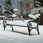 A venit iarna în oraşul Piatra Neamţ