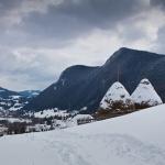 Peisaje de iarnă în Cheile Bicăjelului