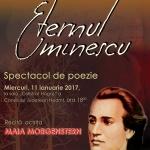 ETERNUL EMINESCU, recital de poezie susţinut de actriţa Maia Morgenstern