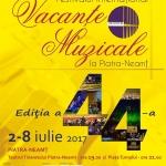 """Centrul pentru Cultură şi Arte """"Carmen Saeculare"""" Piatra Neamț – Vacanțe Muzicale ediția 2017"""