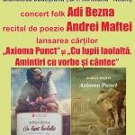 """Biblioteca """"G. T. Kirileanu"""" Piatra Neamt – Seară de muzică și poezie, joi 12 octombrie 2017"""