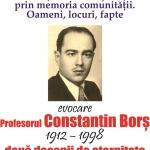 Evocarea profesorului Constantin Borș la Biblioteca Județeană