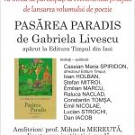 """""""Pasărea Paradis"""" de Gabriela Livescu, lansată la Biblioteca Județeană """"G.T. Kirileanu"""""""
