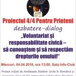"""Proiectul 4/4 Pentru Prieteni la Biblioteca Județeană """"G.T. Kirileanu"""" Neamț"""
