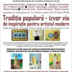 Expoziție de desene, ii și motive populare cusute, la Biblioteca Județeană