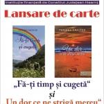 Dublă lansare de carte la Biblioteca Județeană – TATIANA CROITOR – 8 AUGUST 2018 –
