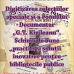 Promovarea patrimoniului cultural prin digitizare, la Biblioteca Județeană
