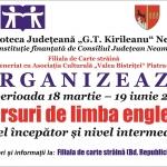 O nouă serie de cursuri de limba engleză la Biblioteca Județeană