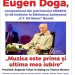 """Întâlnire cu Eugen Doga la Biblioteca Județeană """"G.T. Kirileanu"""" Neamț"""