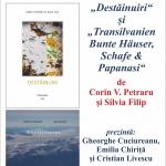 """""""Destăinuiri"""" și """"Transilvanien"""" – cărți lansate în prezența autorilor la Biblioteca Județeană"""