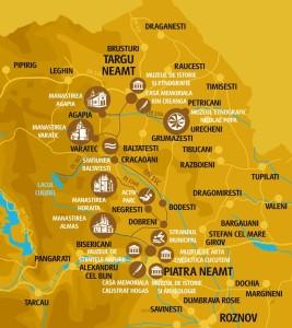 Vacanta in Neamt Traseul 01 - Harta