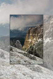 Traseu pe Ceahlau - Curmatura Stanile - Cabana Dochia iarna