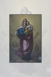 Pictura realizata de Nicolae Grigorescu la Manastirea Agapia