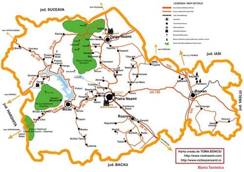 Harta Turistica A Judetului Neamt