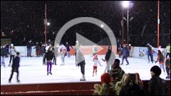 Distractie pe patinoarul din Piatra Neamt