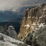 Peisaje de iarnă pe traseul Curmătura Stănile – Cabana Dochia
