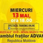 Spectacol transmis online- Ansamblul Fraților ADVAHOV, 13 mai 2020