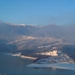 Peisaje de iarnă pe Lacul lzvoru Muntelui