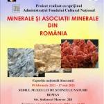 122 de exponate mineralogice – Muzeul de Științe ale Naturii Roman
