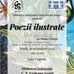 Poezii ilustrate Live painting, cu Diana Cristea la Biblioteca Județeană