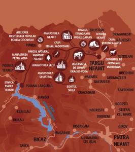 Vacanta in Neamt Traseul 02 - Harta