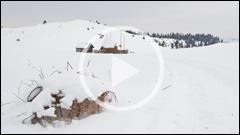 Peisaje de Iarna in zona Barnadu - Cheile Sugaului